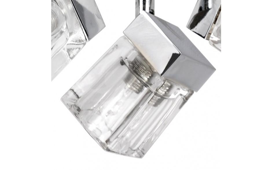 Modern Chrome Ice Cube 3 Way Ip44 Bathroom Ceiling Light: IP44 Ice Cube 3 Way Gloss White Spotlight